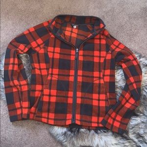 Morona Fleece Buffalo Plaid Zip